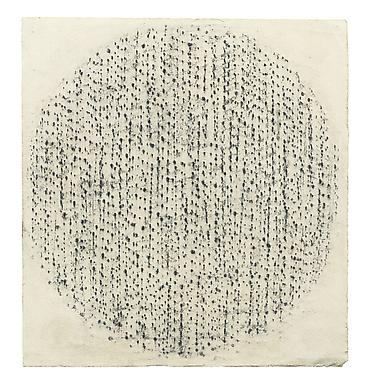 Oval Structure, 1957charcoal, applied from the bac...