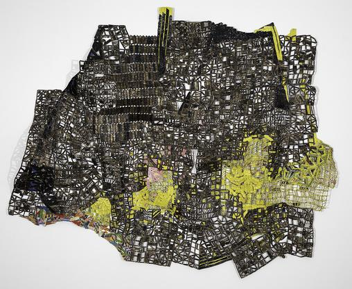 El Anatsui Almost 2017 aluminum and copper wire di...