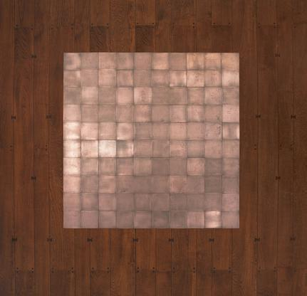 Carl Andre 100 Copper Square 1968 copper 100-unit...