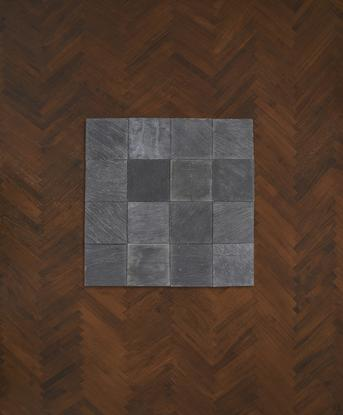 Carl Andre 16 Pieces of Slate 1967 slate 16-unit s...