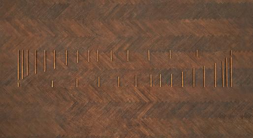 Carl Andre 32-Part Reciprocal Invention 1971 steel...