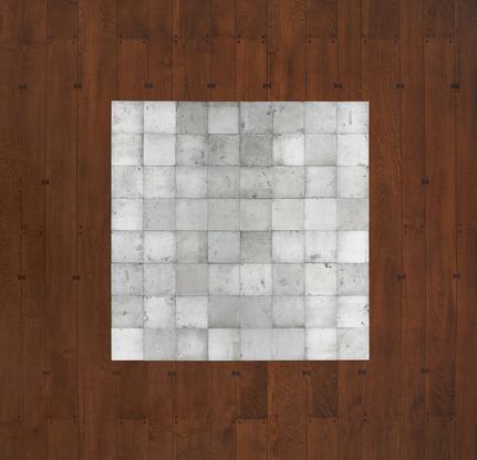 Carl Andre 64 Zinc Square 1968 zinc 64-unit square...