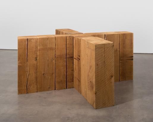 Carl Andre Crux 1978 Western red cedar 13 timbers...