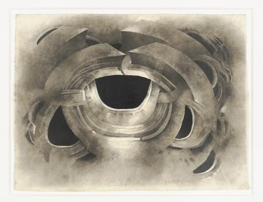 Lee Bontecou Untitled 1963 soot and pencil on pape...