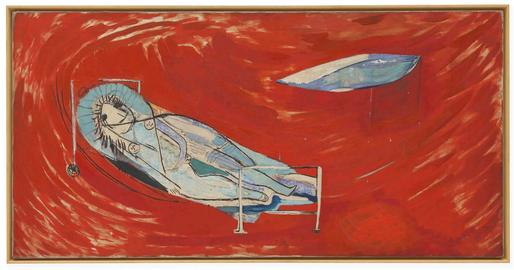 Louise Bourgeois Red Night 1946-48 oil on linen 30...
