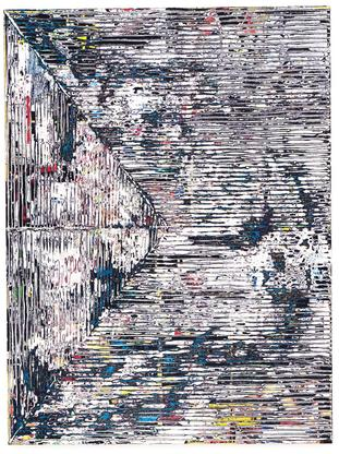 Mark Bradford Smear 2015 mixed media and collage o...