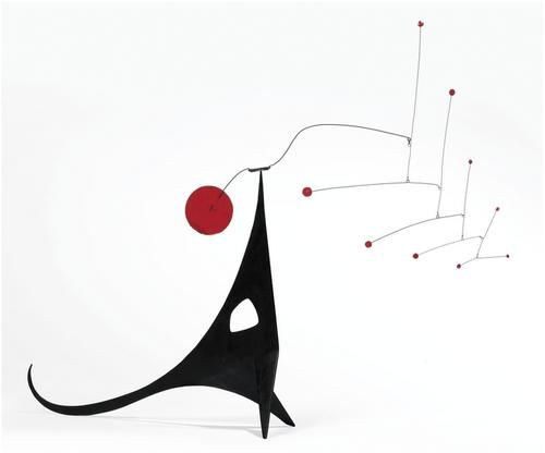 Alexander Calder Red-Eyed Dragon 1950 painted meta...