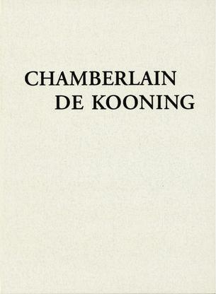Chamberlain/ de Kooning - Publications