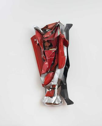 John Chamberlain Funn 1978 painted and chromium-pl...