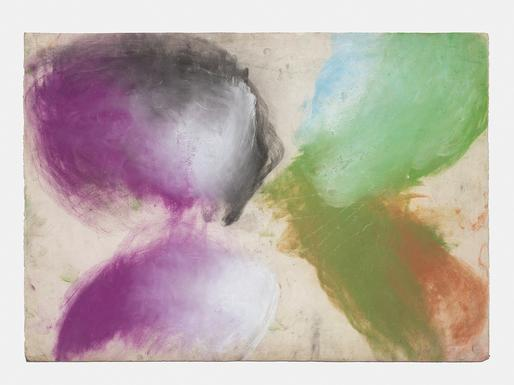 Ed Clark Untitled 2001 dry pigment on paper 29 1/4...