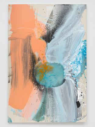 Ed Clark Untitled 2004 acrylic on canvas 77 x 51 3...