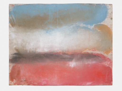 Ed Clark Untitled 2013 dry pigment on paper 38 3/8...