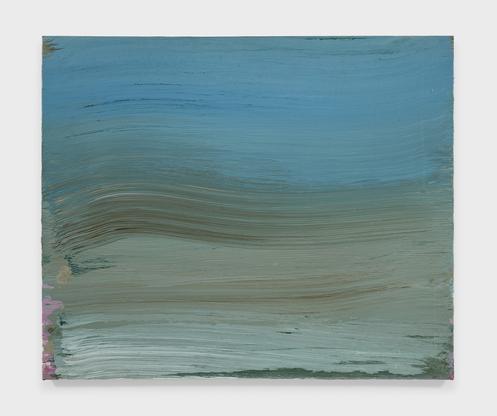 "Ed Clark Untitled #2 (""The Blue One"") 2004 acrylic..."