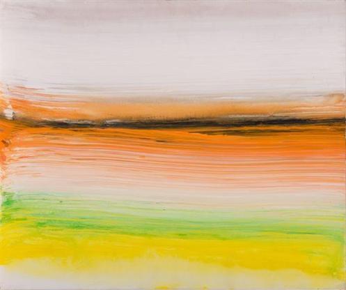 Ed Clark Untitled 2002 acrylic on canvas 20 x 24 i...