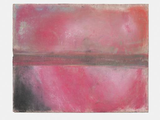 Ed Clark Untitled 2013 dry pigment on paper 37 5/8...