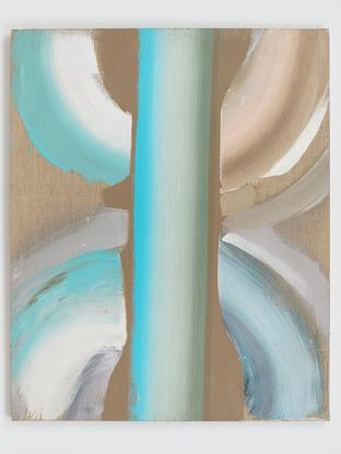 Ed Clark Untitled c. 1990s acrylic on unbleached c...