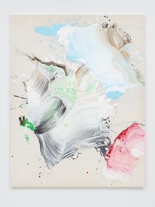 Ed Clark Untitled c. 2000s acrylic on canvas 80 1/...