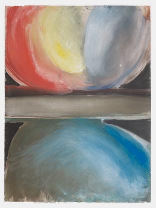 Ed Clark Nola 1994 dry pigment on paper 39 3/4 x 2...