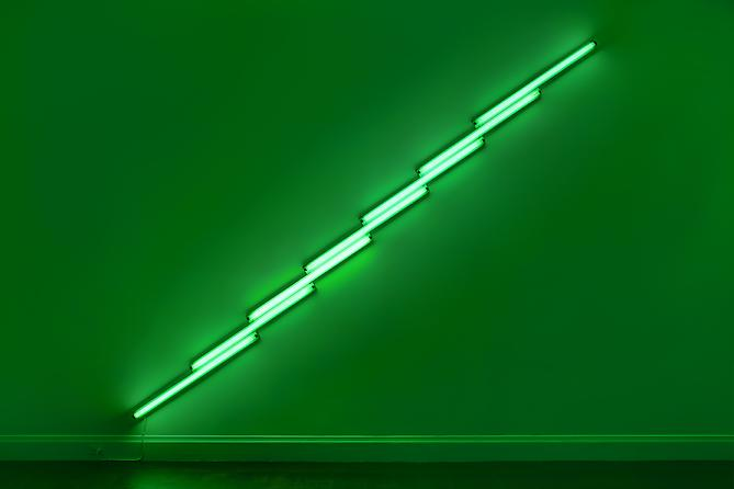DAN FLAVIN untitled, 1975 green fluorescent light...