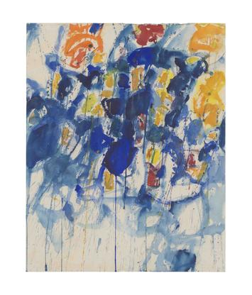 Sam Francis Composition c. 1956 watercolor on pape...