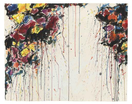 Sam Francis Untitled 1957 watercolor on paper 31 3...