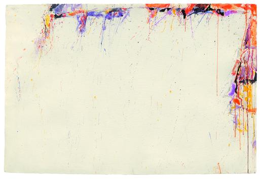 Sam Francis Untitled 1957 watercolor on paper 26 1...