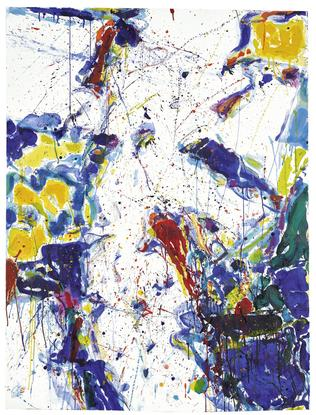 Sam Francis Untitled 1958 gouache and watercolor o...