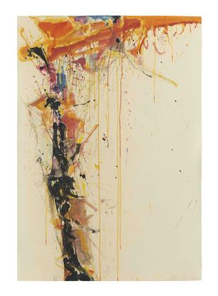 Sam Francis Untitled 1958 watercolor on paper 42 x...
