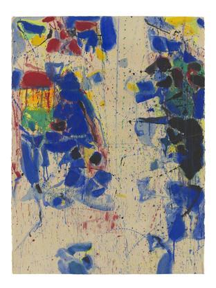 Sam Francis Untitled (White Line) 1958 - 1960 goua...