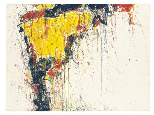 Sam Francis Untitled 1958 watercolor and gouache o...