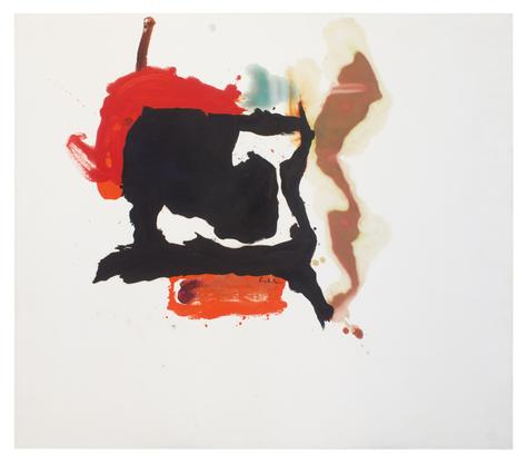 Helen Frankenthaler Black with Shadows 1961 oil on...