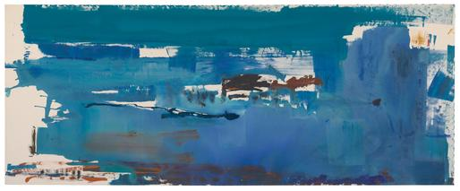 Helen Frankenthaler Blue Reach 1978 acrylic on can...
