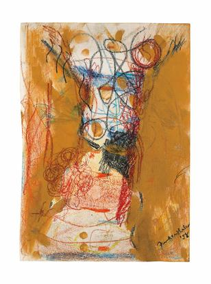 Helen Frankenthaler Untitled 1958 mixed media on p...