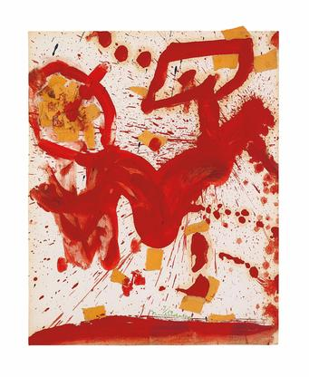 Helen Frankenthaler Untitled 1959 oil and collage...