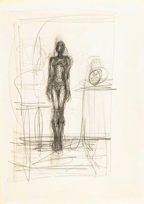 Alberto Giacometti Nu debout dans un intéri...