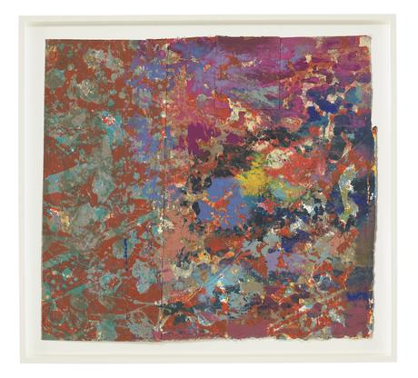 Sam Gilliam Blowing Cool Red 1974 acrylic and scre...