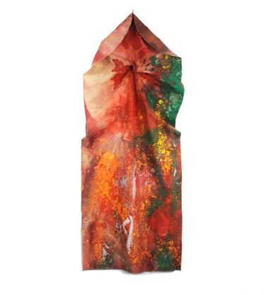 Sam Gilliam Red Cowl 1973 acrylic on draped canvas...