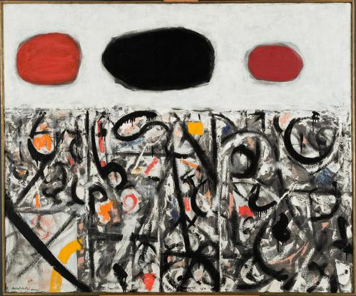 Adolph Gottlieb Cold Front #2 1956 oil on canvas 5...