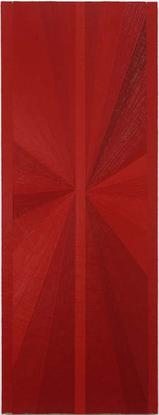 Mark Grotjahn Untitled (Red Butterfly Over Lime Gr...