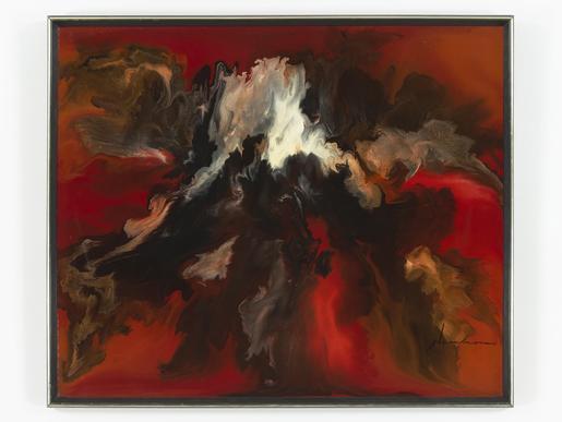 David Hammons Untitled 1968 enamel on masoni...