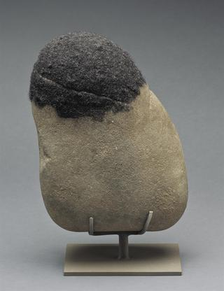 David Hammons Untitled 2004 rock and hair 12 x 9 x...
