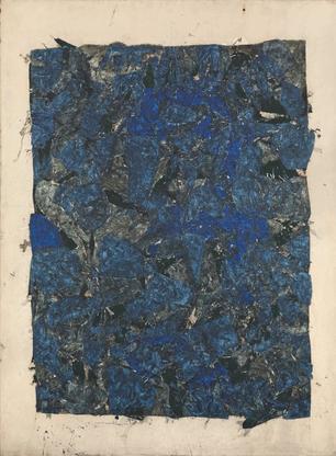 Simon Hantaï, Catamurons, 1965, oil on canvas...