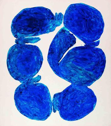 Simon Hantaï, Meun, 1967, oil on canvas, 94 1...