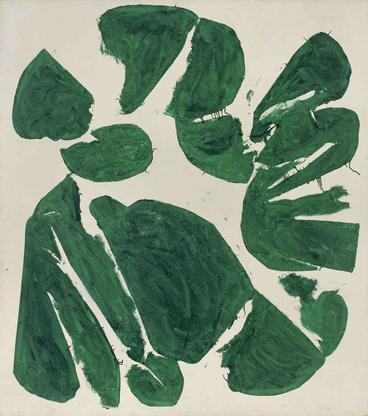 Simon Hantaï, Meun, 1968, oil on canvas, 100...