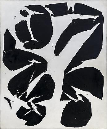 Simon Hantaï, Meun, 1968, oil on canvas, 86 x...