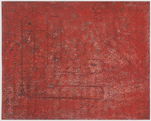 Donald Judd Untitled 1961 acrylic and sand on Maso...
