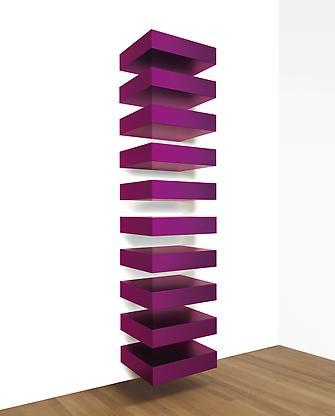 Untitled (Bernstein 88-25), 1988 violet anodized a...