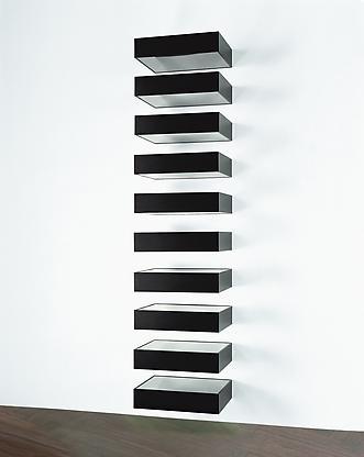 Untitled (Bernstein 90-01), 1990 black anodized al...