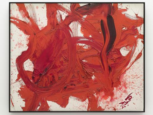 Kakueki [Luminous Shine] 1985 oil on canvas 51 1/8...