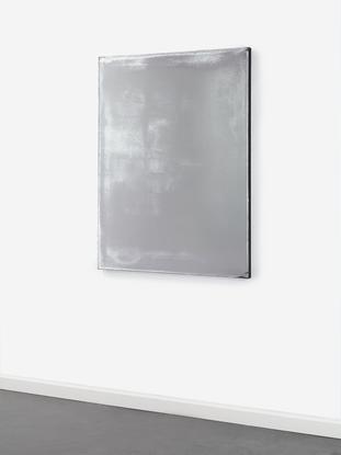 Jacob Kassay, Untitled, 2010 acrylic and silver de...